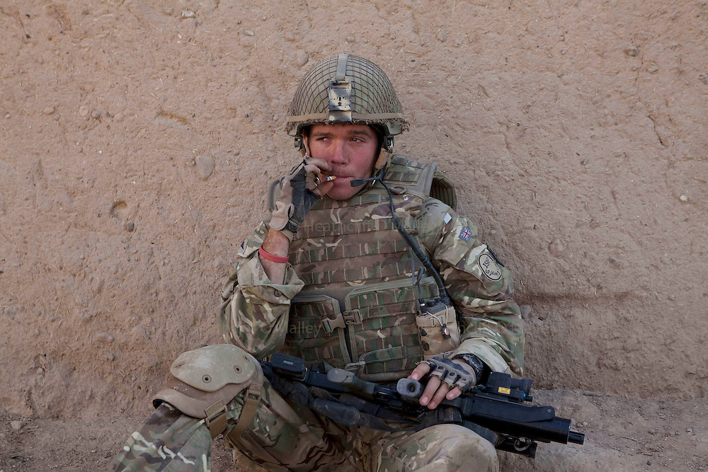 Mcc0027461 . Daily Telegraph..Pte Luke Flannagan..Paratroopers from A coy, 3 Para under the command of Lt Jamie Macdonald on patrol south of their base CP Qudtrat in the northern Nad e Ali district of Helmand. ..Helmand 2 December 2010