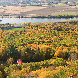 The Connecticut River valley as seen from Skinner Mountain in Skinner State Park, South Hadley, Massachusetts.