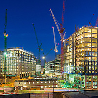 The construction of Pancras Square, King's Cross