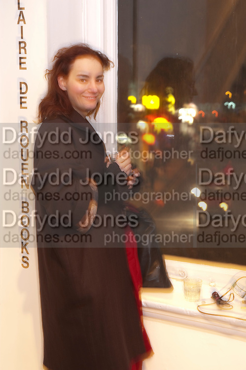 DASHA FURSEY, The  launch of Johnnie Shand Kydd's book Siren City. ( Photographs of Naples) Claire<br /> de Rouen books published  by Other Criteria. Charing Cross Rd. London. 30 November 2009