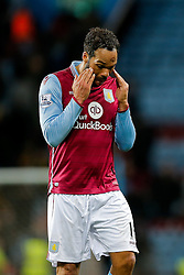 Joleon Lescott of Aston Villa looks dejected after Everton win 1-3 - Mandatory byline: Rogan Thomson/JMP - 01/03/2016 - FOOTBALL - Villa Park Stadium - Birmingham, England - Aston Villa v Everton - Barclays Premier League.