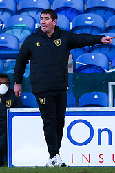 Mansfield Town manager Nigel Clough shouts instructions to his side - Mandatory by-line: Ryan Crockett/JMP - 27/02/2021 - FOOTBALL - One Call Stadium - Mansfield, England - Mansfield Town v Morecambe - Sky Bet League Two