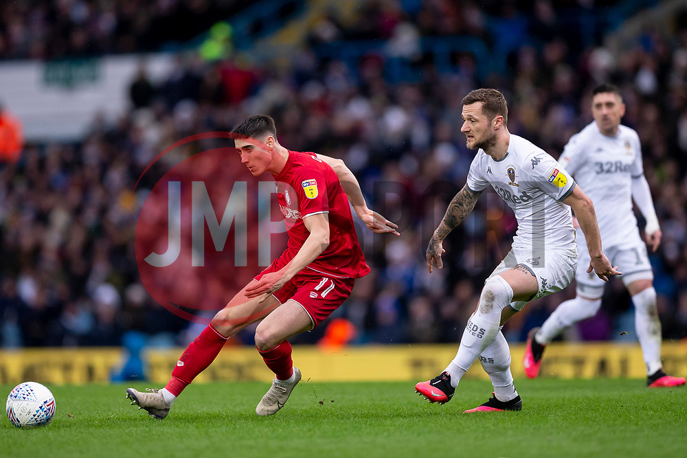 Callum O'Dowda of Bristol City and Liam Cooper of Leeds United - Mandatory by-line: Daniel Chesterton/JMP - 15/02/2020 - FOOTBALL - Elland Road - Leeds, England - Leeds United v Bristol City - Sky Bet Championship