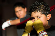 The father and son team of Herman and Ryan Zempoaltecatl train a couple times per week at Untouchables Boxing Club in Liberty, NY.