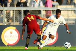 October 31, 2017 - Rome, Italy - Devid Eugene Bouah of Roma and Callum Hudson-Odoi of Chelsea  during the UEFA Youth League match between AS Roma and Chelsea FC at Stadio Tre Fontane on October 31, 2017 in Rome, Italy. (Credit Image: © Matteo Ciambelli/NurPhoto via ZUMA Press)