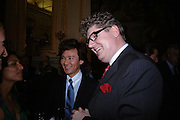 ANDY WONG AND  MARTIN WAECHTER . Fashion show and dinner hosted by Shangri-la Hotels and Andy Wong featuring fashion by new designer Lu Kun held at The Goldsmiths Hall, Foster Lane, London on 25th April 2005ONE TIME USE ONLY - DO NOT ARCHIVE  © Copyright Photograph by Dafydd Jones 66 Stockwell Park Rd. London SW9 0DA Tel 020 7733 0108 www.dafjones.com