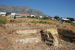 South Africa - Cape Town - 20 July 2020. Excavation work is underway in the District Six area for a new housing development.  The foundations of homes and businesses which were demolished by the apartheid regime in the 1970's are making an appearance as the soil are being prepared for the new structures.  Picture: Henk Kruger/African News Agency(ANA)