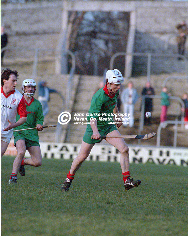 01-12-91. Killyon v Trim - Meath SHC Final at Pairc Tailteann.<br /> Mark Gannon, surging forward for Killyon.<br /> Photo: John Quirke / www.quirke.ie<br /> ©John Quirke Photography, 16 Proudstown Road, Navan. Co. Meath. (info@quirke.ie / 046-9028461 / 087-2579454).