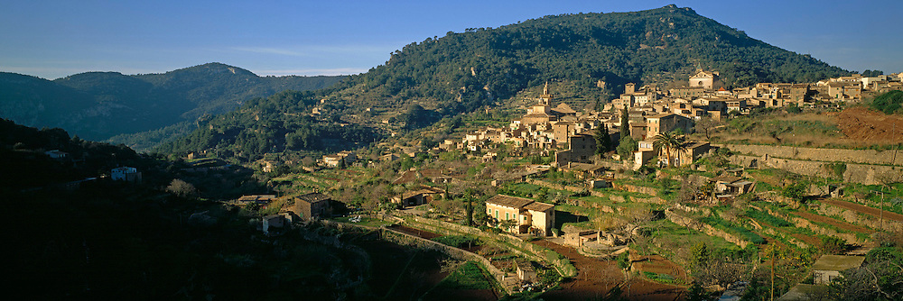SPAIN, BALEARIC ISLANDS MALLORCA; Valldemossa, village with the Carthusian Monastery, where Chopin and Georges Sand spent winter of 1838-39