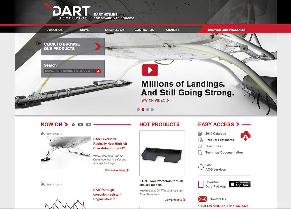 Advertising photography. Dart Aerospace. 2014.