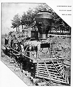 A Locomotive that hanged 8 men as spies from the book ' The Civil war through the camera ' hundreds of vivid photographs actually taken in Civil war times, sixteen reproductions in color of famous war paintings. The new text history by Henry W. Elson. A. complete illustrated history of the Civil war