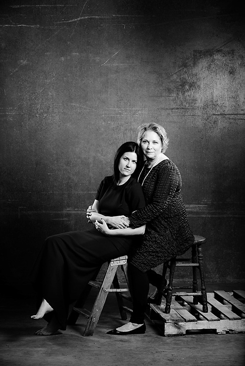 A portrait of Anna and Kathleen Schafer of aMaurice Cellers for the Walla Walla women winemaker calendar