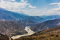 Chicamocha Canyon from Mesa de Los Santos landscapes andes mountains Santander in Colombia South America