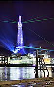 Opening of the Shard on the 5 June 2012 officially the highest building in Europe at 310m (1016ft). A light and laser show was staged for the unveiling of the building.<br /> <br /> Architect: Renzo Piano