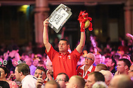 Fan during the First Round of the BetVictor World Matchplay Darts at the Empress Ballroom, Blackpool, United Kingdom on 19 July 2015. Photo by Shane Healey.