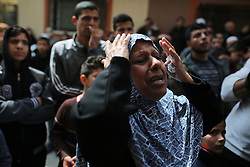 March 23, 2019 - Gaza, Palestine Territories, Palestine - A relative of Palestinian Jehad Hararah who was killed at the Israeli-Gaza border fence, mourns during his funeral in Gaza City March 23, 2019. (Credit Image: © Majdi Fathi/NurPhoto via ZUMA Press)