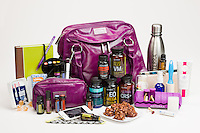 Supplements with a large purple bag. I don't know why.