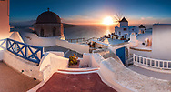 Famous view of Oia town at sunset
