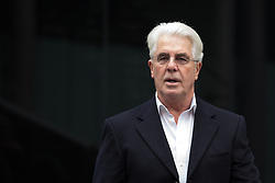 Publicist Max Clifford, arrives at Southwark Crown Court, London, United Kingdom. Friday, 28th March 2014. Picture by Daniel Leal-Olivas / i-Images