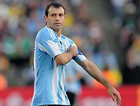 Fotball<br /> VM 2010<br /> 12.06.2010<br /> Argentina v Nigeria<br /> Foto: Witters/Digitalsport<br /> NORWAY ONLY<br /> <br /> Javier Mascherano (Argentinien)<br /> Fussball WM 2010 in Suedafrika, Vorrunde, Argentinien - Nigeria