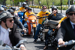Arlen Ness Memorial - Celebration of Life ride from the CrossWinds Church in Livermore to the Arlen Ness Motorcycle store in Dublin, CA, USA. Saturday, April 27, 2019. Photography ©2019 Michael Lichter.