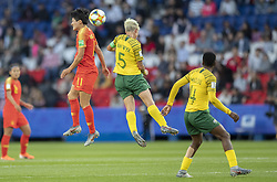 WANG Shanshan (CHN), Janine VAN WYK (RSA) in action during the match of 2019 FIFA Women's World Cup France group B match between South Africa and China, at Parc Des Princes stadium on June 13, 2019 in Paris, France. Photo by Loic Baratoux/ABACAPRESS.COM