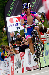 Spilak Simon (SLO) of Lampre in finish area during 3rd Stage Trzic - Golte (170,6 km) at 18th Tour de Slovenie 2011, on June 17, 2011, in Slovenia. (Photo by Vid Ponikvar / Sportida)