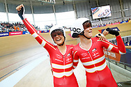 Women Madison, Amalie Dideriksen (Denmark), Julie Leth (Denmark), during the Track Cycling European Championships Glasgow 2018, at Sir Chris Hoy Velodrome, in Glasgow, Great Britain, Day 6, on August 7, 2018 - Photo luca Bettini / BettiniPhoto / ProSportsImages / DPPI<br /> - Restriction / Netherlands out, Belgium out, Spain out, Italy out -