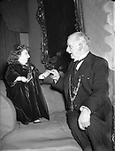1954 Presentation of Cheque on their behalf to Lord Mayor by Lady Dwarf.