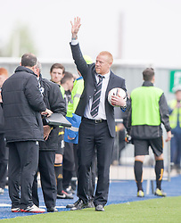 Falkirk's manager Gary Holt at the end.<br /> Falkirk 3 v 1 Alloa Athletic, Scottish Championship game played today at The Falkirk Stadium.<br /> © Michael Schofield.
