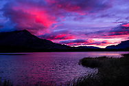 Photo Randy Vanderveen<br /> Jasper National Park, Alberta<br /> 2020-09-25<br /> Sunrise on mountains between the Pallisades and Talbot Lake (North side of highway near Cold Sulfur Spring)