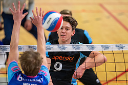 02-02-2019 NED: Coniche Topvolleybal Zwolle - TT Papendal, Zwolle<br /> Round 17 of Eredivisie - Talenteam win 3-0 / Leon Luini #9 of Talent Team