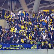 Fenerbahce's supporters during their Turkish Super League soccer match Mersin Idman Yurdu between Fenerbahce at the Mersin stadium in Mersin Turkey on Saturday 21 November 2015. Photo by TVPN/TURKPIX