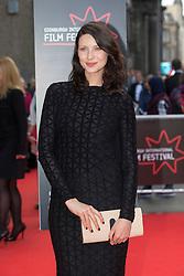 "Outlander star Caitriona Balfe. Opening Night Gala and World Premiere of ""The Legend of Barney Thompson"", Edinburgh International Film Festival 17 - 28 June 2015."