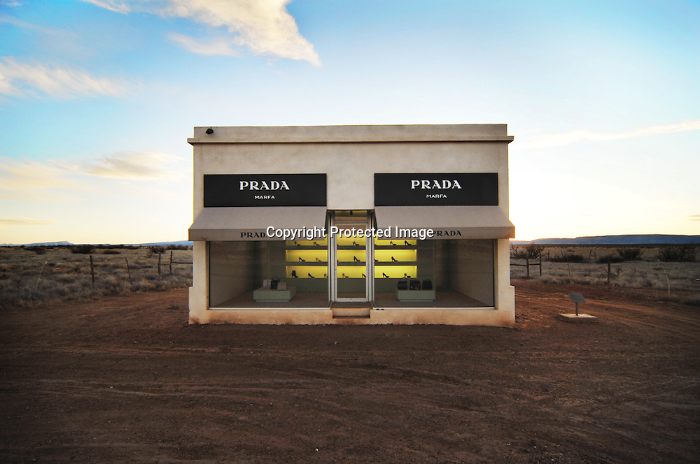 Prada Marfa, which is nowhere near Marfa but sits on the cusp of Valentine, Texas.