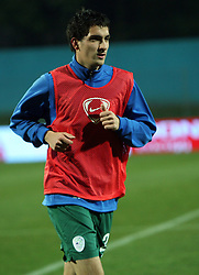 Branko Ilic of Slovenia before the UEFA Friendly match between national teams of Slovenia and Denmark at the Stadium on February 6, 2008 in Nova Gorica, Slovenia. Slovenia lost 2:1. (Photo by Vid Ponikvar / Sportal Images).