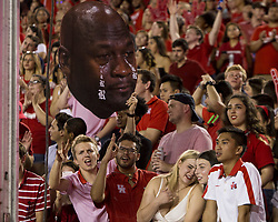 September 16, 2017 - Houston, TX, USA - Houston Cougars fans celebrate during the second quarter of the college football game between the Houston Cougars and the Rice Owls at TDECU Stadium in Houston, Texas. (Credit Image: © Scott W. Coleman via ZUMA Wire)