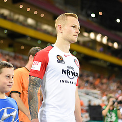 BRISBANE, AUSTRALIA - APRIL 21: Jack Clisby of the Wanderers walks out during the Hyundai A-League Elimination Final match between the Brisbane Roar and Western Sydney Wanderers at Suncorp Stadium on April 21, 2017 in Brisbane, Australia. (Photo by Patrick Kearney/Brisbane Roar)