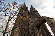 Koln Cologne Dom Cathedral, external shot in winter.