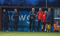 Falkirk's manager Ray McKinnon after Stenhousemuir's Sean Dickson scored their third goal. Stenhousemuir 4 v 2 Falkirk, 3rd Round of the William Hill Scottish Cup played 24/11/2018 at Ochilview Park, Larbert.
