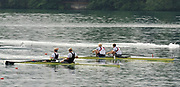 Bled, SLOVENIA,  Men's pair final M2-. Left NZL M2- , Bow Eric MURRAY and Hamish BOND, Gold Medalist. and GBR M2-. Bow Peter REED and Andy TRIGGS Hodge Silver medalist. 1st FISA World Cup. Third day. Rowing Course. Lake Bled.  Sunday  30/05/2010  [Mandatory Credit Peter Spurrier/ Intersport Images]