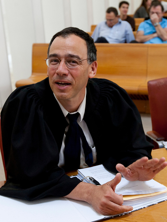 Attorney Shai Nitzan, Israel's deputy state prosecutor, is seen at the courtroom of the Supreme Court in Jerusalem on October 11, 2010.