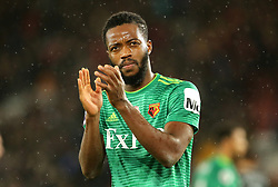 Watford's Nathaniel Chalobah applauds fans after the final whistle during the Premier League match at St Mary's Stadium, Southampton.