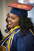 CSF-DC's Bryanna Johnson waits for the start of her NC A&T graduation on Saturday, May 14, 2016 (Tigermoth Creative/Chris English)