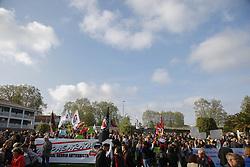 April 11, 2017 - Bayonne, France - Manifestation anti FN Front National le 11 avril 2017 contre le venue de Marion Marechal Le Pen FN ( Front National) a Bayonne au pays basque. (Credit Image: © Panoramic via ZUMA Press)