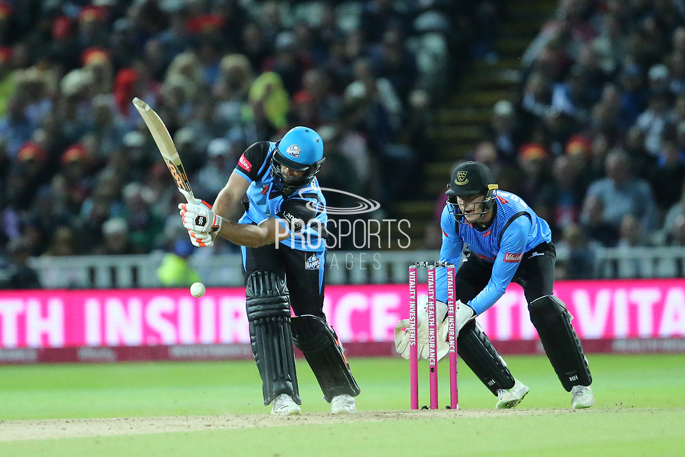 Worcestershire Rapids Ross Whiteley during the final of the Vitality T20 Finals Day 2018 match between Worcestershire rapids and Sussex Sharks at Edgbaston, Birmingham, United Kingdom on 15 September 2018.