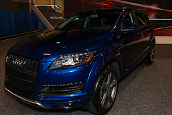 CHARLOTTE, NORTH CAROLINA - NOVEMBER 20, 2014: Audi Q7 on display during the 2014 Charlotte International Auto Show at the Charlotte Convention Center.