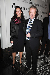 MARTIN AMIS and ISABEL FONSECA at the Liberatum Dinner hosted by Ella Krasner and Pablo Ganguli in honour of Sir V S Naipaul at The Landau at The Langham, Portland Place, London on 23rd November 2010.