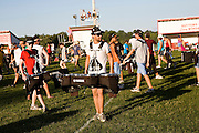 The Oregon Marching Band practice in Suttons Bay, Michigan on July 8, 2009.