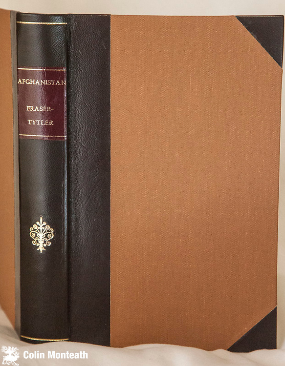 AFGHANISTAN -  A Study of political developments in Central and Southern Asia, W Fraser-Tytler, Oxford University Press, London, 1967, 3rd revised edn., professionally recased in brown leather spine with gilt titles, original fold-out map of tribal areas + fold-out map Afghanistan - V hard to find - $75